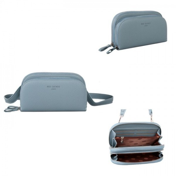 Dusky Blue Rounded Pouch