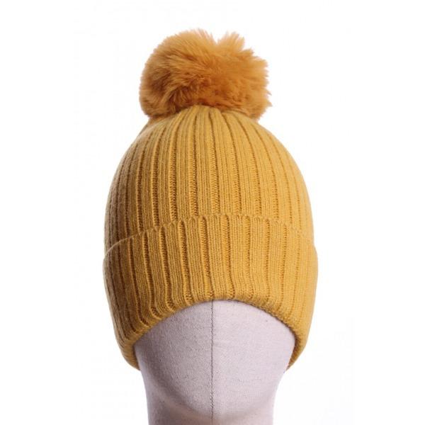 Pom Pom Hat Mustard