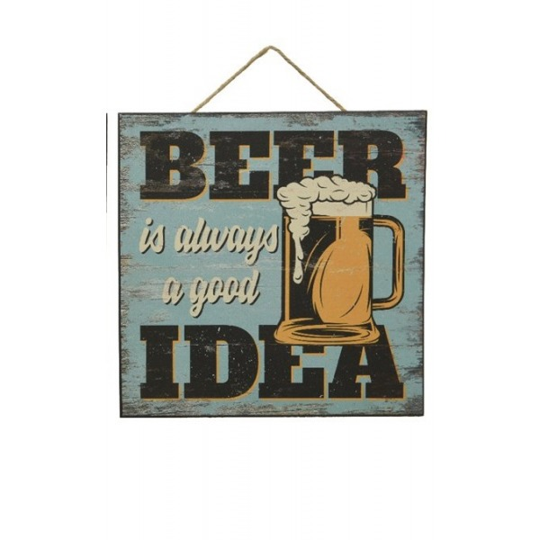 Square Sandy Painting Beer Sign