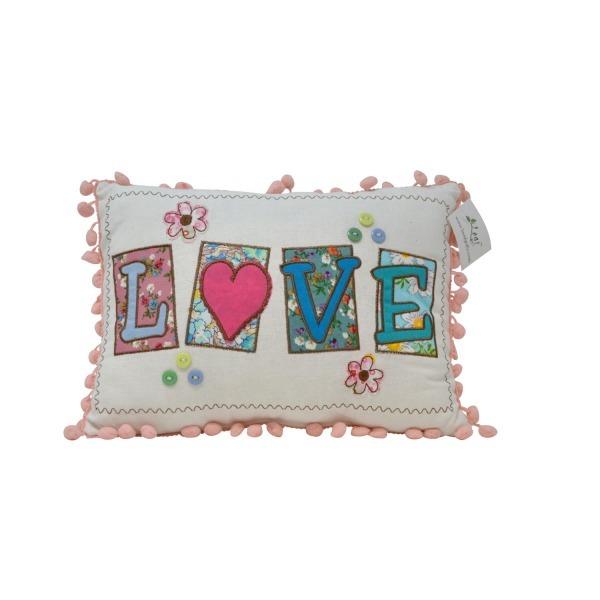Pom Pom Cushions - Love