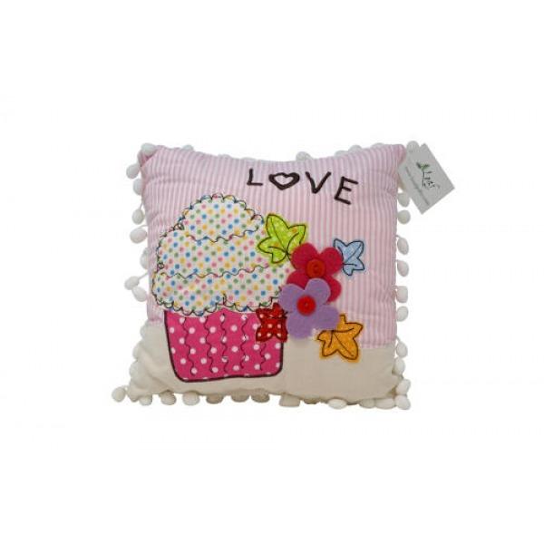 Pom Pom Cushions - Cupcake Love