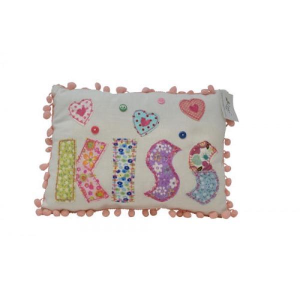 Pom Pom Cushions - Kiss