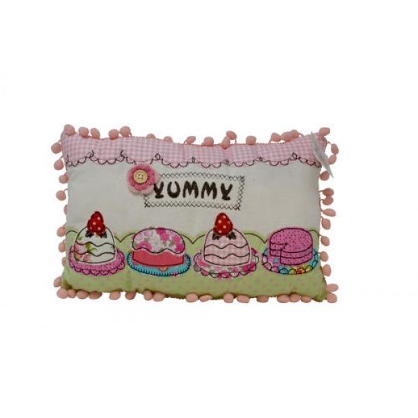 Pom Pom Cushions - Yummy Cupcakes
