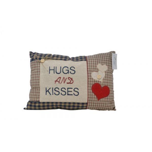 Tartan Cushions - Hugs and kisses
