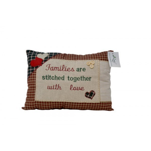 Tartan Cushions - Families are stitched together..