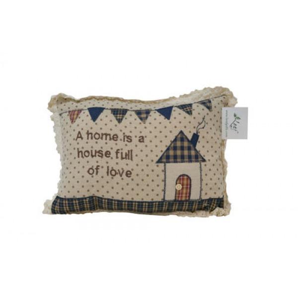 Tartan Cushions - A home is a house full..