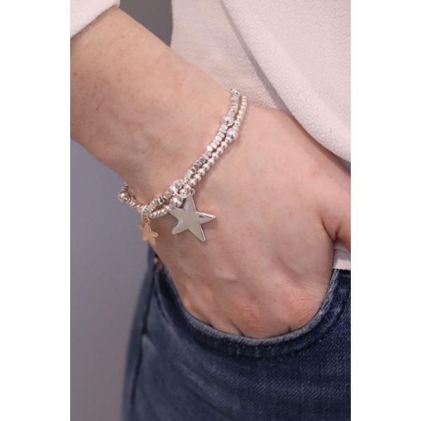 Double Star Stacking Bracelet