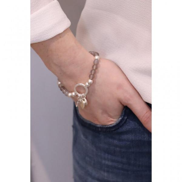 Silver Beaded Charm