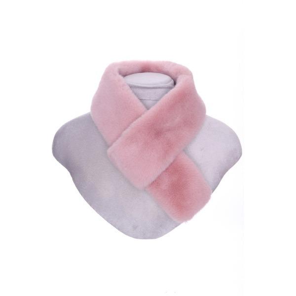 Luxury Faux Fur Pull Through Collar Pink